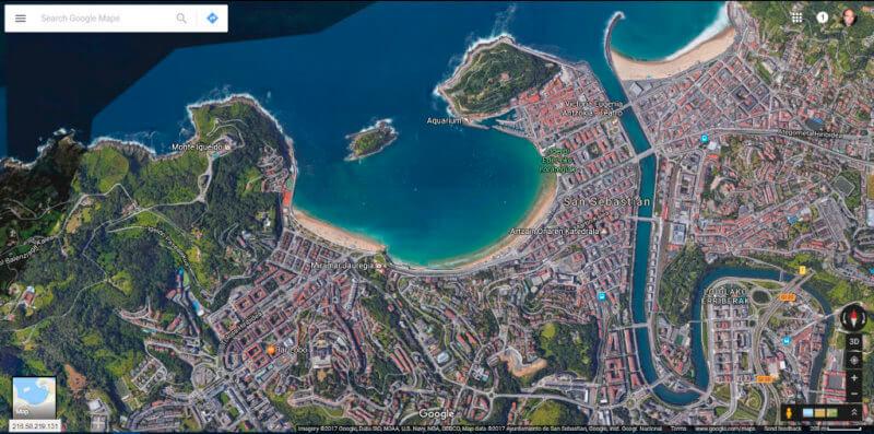 Google Maps Vista Satelital